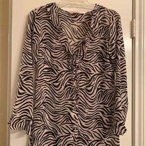 Victoria's Secret top with zebra print